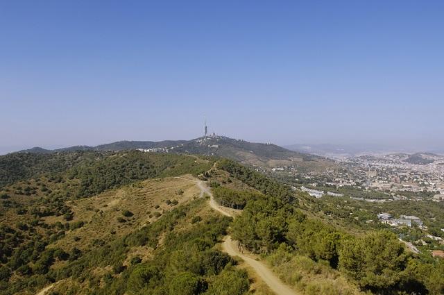 Sierra de Collserola, un parque natural que recorre toda la ciudad de Barcelona