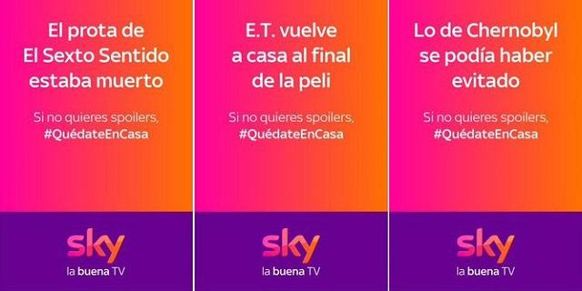Campaña de carteles con spoilers (Sky, 2020)